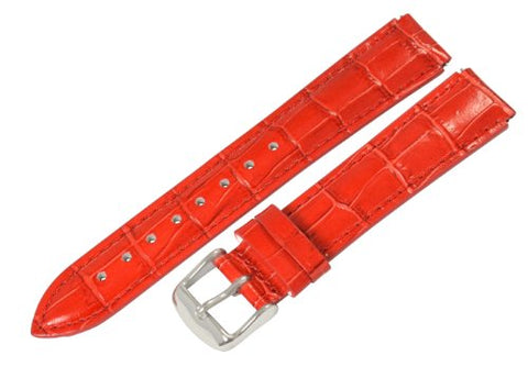 Clockwork Synergy - 22mm x 20mm - Red Croco Grain Leather Watch Band fits Philip stein Chrono