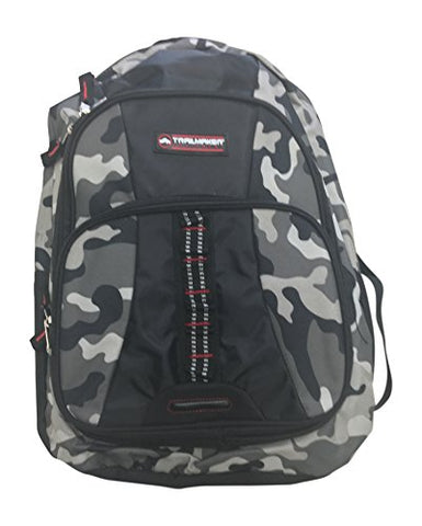 Trailmaker Camouflage Backpack 18 x 14 x 6.5 Black