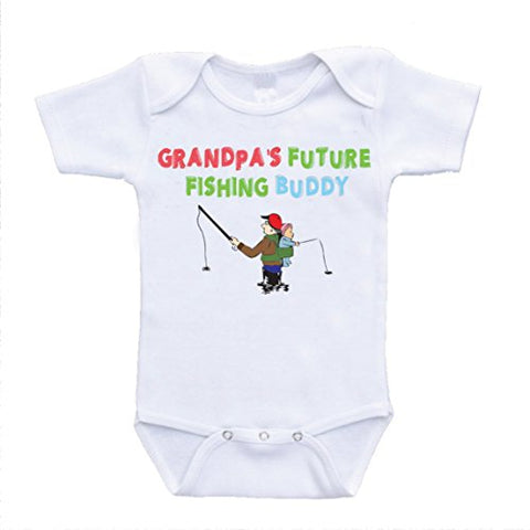 Grandpa's Future Fishing Buddy Onesies Grandpa Baby Bodysuit (18 Months)