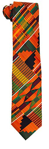 Kente Printed Necktie and Handkerchief Set