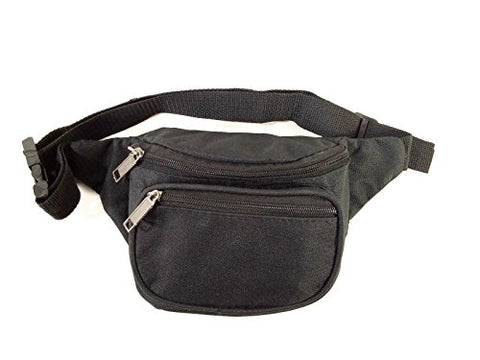 New Black Waist Fanny Pack Belt Bag Pouch Travel Sport Hip Purse Mens Womens