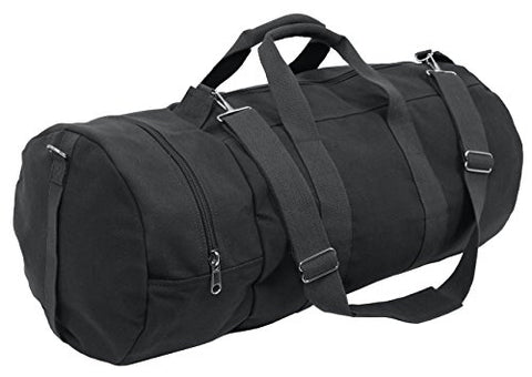 Rothco Canvas Double-Ender Sports Bag , Black