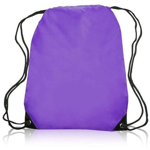 Small Sports Pack Backpack Book Tote Bag Durable & Stylish, Purple by BAGS FOR LESS