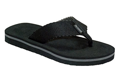 Xtreme Sports Men's Beach-side Comfort Sandal, Black, Size 11US