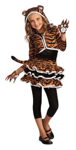 Drama Queens Tigress Hoodie Costume, Large