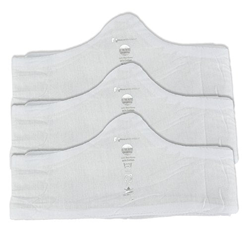 Bra Liner 3-Pack Comfortably Wicks Sweat by More of Me to Love 100/% Cotton