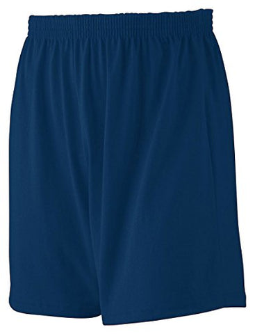 Augusta Jersey Knit Short (990)- Navy,X-Large
