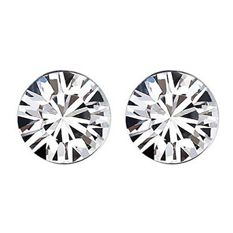Wrapables Large White Swarovski Elements Crystal Stud Earrings