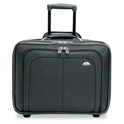 Mobile Office Notebook Case, Nylon, 17-1/2 x 9 x 14, Black, Sold as 1 Each