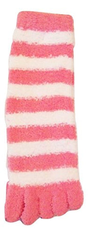 Snugadoo  Super Soft  Children's Toe Socks ~ Size 6-8 (Pink with White Stripe)
