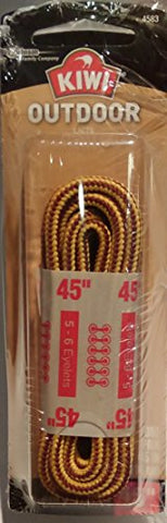Kiwi 66458 45  Yellow & Brown Outdoor Shoe Laces
