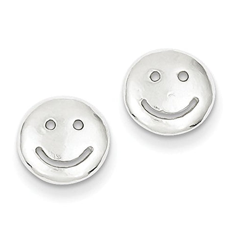 Sterling Silver Smiley Faces Mini Earrings