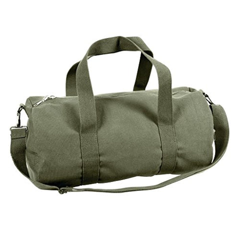Sports Gym Shoulder Canvas Sport Shoulder Duffle Bag with Strap 19  x 9  (Color: Olive Drap)