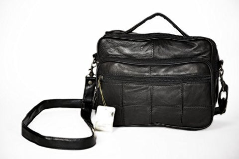TINDER Genuine Leather Carry Bag Sophisticated Design (Black)CA704-H