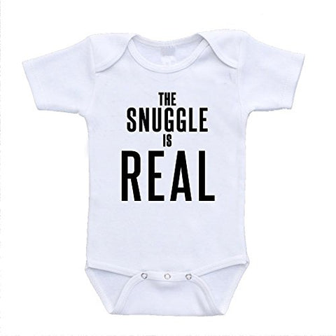 The Snuggle Is Real baby infant toddler bodysuits onesies one piece retro designer fashion babywear (24 Months)