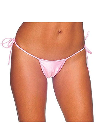 Tie Side T-Back (Baby Pink;One Size)