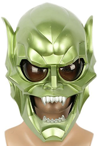 Goblin Mask Deluxe Green Resin Man Halloween Cosplay Costume Prop Xcoser