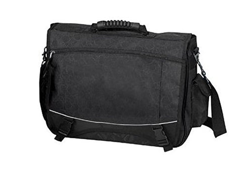 Monsoon Flap-over 15.4  Laptop Computer Briefcase Messenger Bag - BLACK
