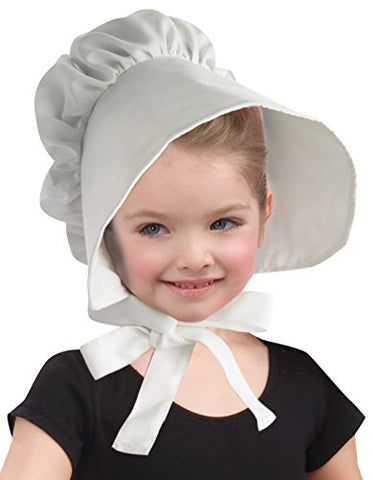 Forum Novelties Child Colonial Bonnet Hat, White