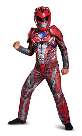 Power Ranger Movie Classic Muscle Costume, Red, Small (4-6)
