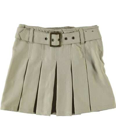 French Toast Little Girls' Scooter with Grommeted Belt - khaki, 4