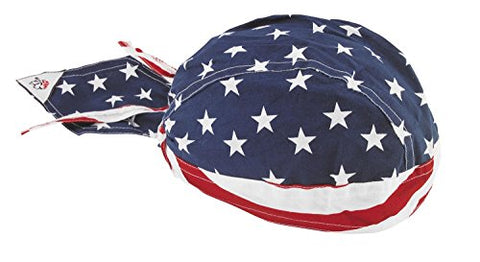 Zan Headgear Flydanna Headwrap , Distinct Name: Stars & Stripes, Primary Color: Blue, Gender: Mens/Unisex, Size: OSFM Z476