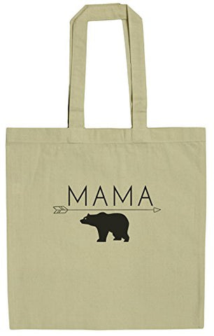 Mama Bear Funny Mothers 15 Inch Canvas Tote Bag
