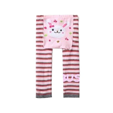 Wrapables Baby & Toddler Leggings, Bunny and Stripes - 6 to 12 Months