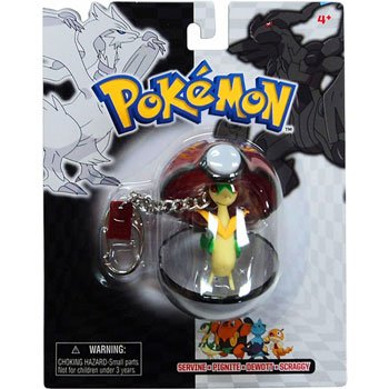 Pokemon Black White Series 25 Keychain Servine