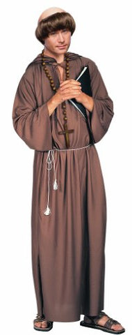 Forum Novelties Adult Monk Robe Costume, Brown, Standard Size (up to 42-inch chest)