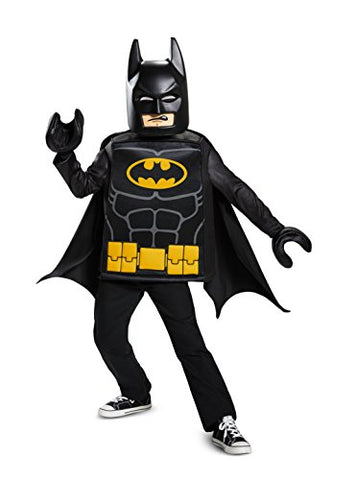 Batman LEGO Movie Classic Costume, Black, Medium (7-8)