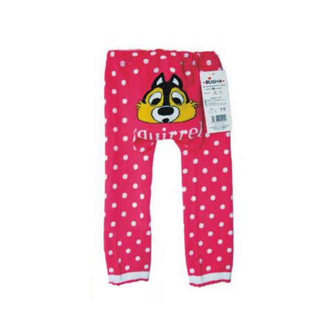 Wrapables Baby & Toddler Leggings, Squirrel and Polka Dots - 6 to 12 Months