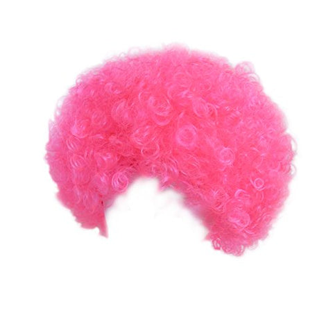 SeasonsTrading Economy Pink Afro Wig ~ Halloween Costume Party Wig (STC13044)