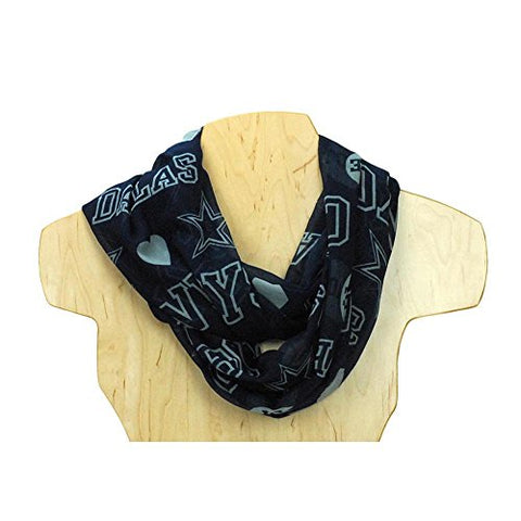 NFL 2014 Womens Love Print Infinity Scarf - Pick Team (Dallas Cowboys)