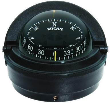 Ritchie Voyager Compass Dial With Surface Mount And 12V Green Night Light (Black, 3-Inch)