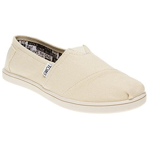 Toms Youth Classic Natural Canvas, Slipon YT, Size 12 US