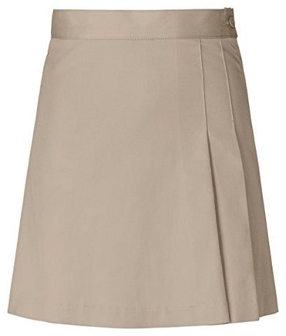 Classroom Uniforms Girls Stretch Double-Pleated Scooter_Khaki_10