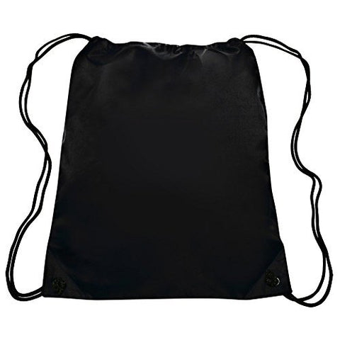 Bags for Less Sports Drawstring Backpack Bag, Black