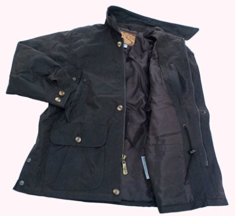 f832aa210aa Outback Trail by Foxfire, Oilskin, Oilcloth, Waterproof Barn Coat Black  Small