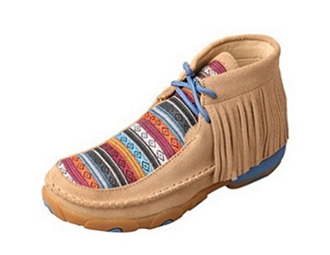 Twisted X Kid'S Driving Moccasins, Color: Serape Fringe, Size: 4.5, Width: M (Yd