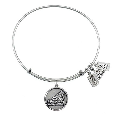 Wind & Fire Coastal Carolina Chanticleers Silver Finish Charm Bangle