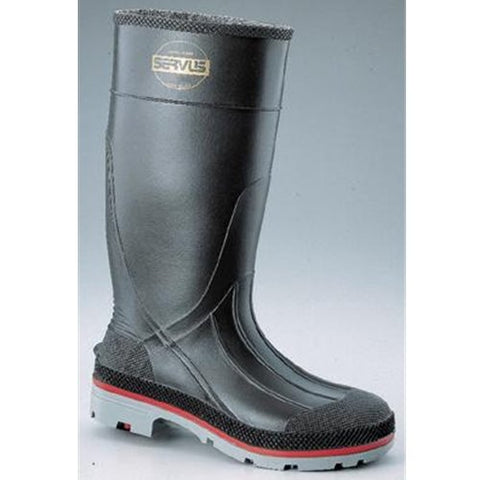Honeywell 75109-7 Servus XTP 15  PVC Safety Hi Boots with Dual Compound Outsole and Steel Toe, Size 7, Black