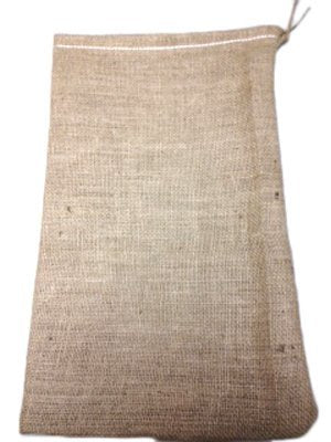 5  x 8  New Burlap Bag With Jute Drawstring - Bags