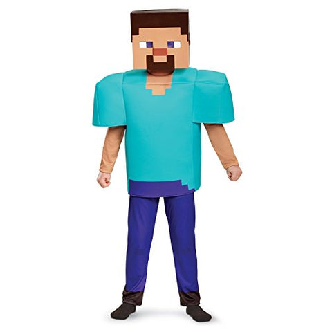 Steve Deluxe Minecraft Costume, Multicolor, Small (4-6)