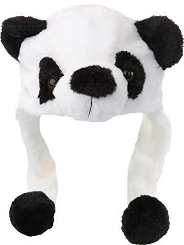 Sparkling-Star Panda Plush Animal Hat Cap Polyester with Short Mittens Plushy