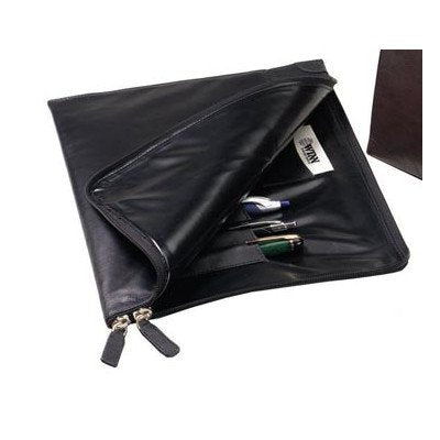 Winn International Buffalo Napa Leather Slim Underarm Portfolio 3350 Color: Black