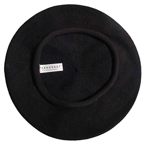 Classic French  Artist's  Beret (Adult)- 100% Cotton - Black - 11  Dia.