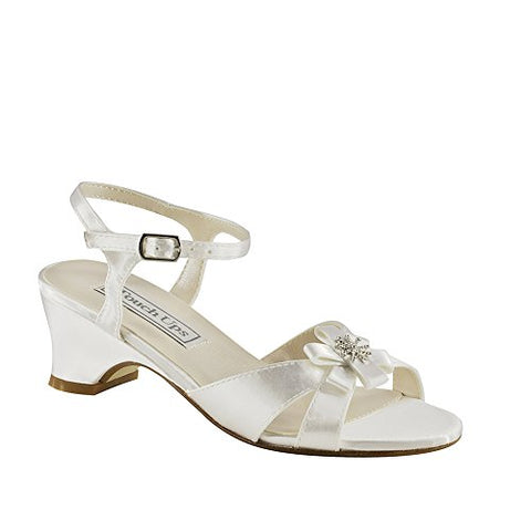 Touch Ups Tina Girls White Sandals 7 M