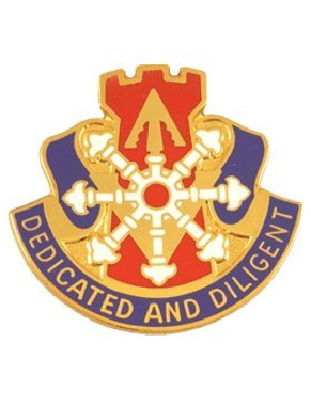 111th Engineer Unit Crest (Dedicated And Diligent)