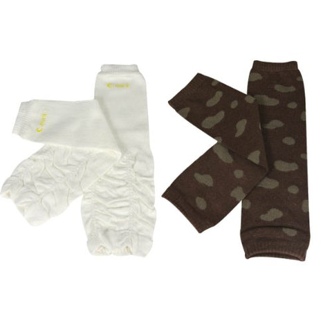 Wrapables Colorful Baby Leg Warmers (Set of 2) - Animal Print & Ruched